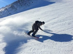 Man on a Snowboard